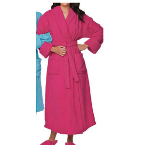 Woman Within Terry Cotton Spa Robe pink #1